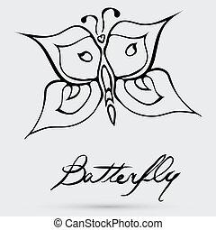 astratto, farfalla, vettore