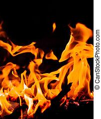 astratto, fiamme, struttura, fire.