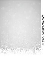 astratto, fiocchi, neve, fondo