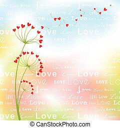 astratto, fiore, amore, primavera