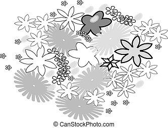 astratto, fiore, disegno