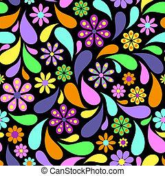astratto, fiore, su, sfondo nero