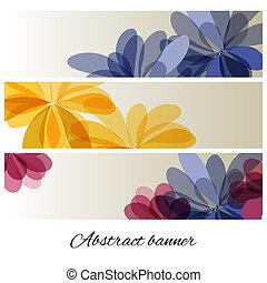 astratto, fiori, delicato, fondo