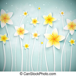 astratto, fiori, fondo