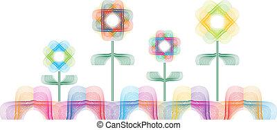 astratto, fiori, variopinto