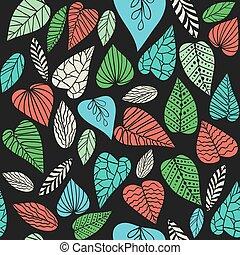 astratto, foglie, fondo