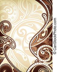 astratto, fondo, cioccolato