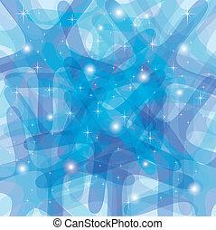 astratto, fondo, con, arrotondato, stelle, in, blu
