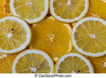astratto, fondo, con, citrus-fruit