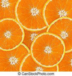 astratto, fondo, con, citrus-fruit, di, arancia, slices.