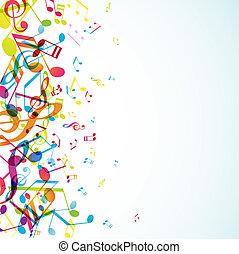 astratto, fondo, con, colorito, tunes.