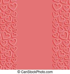 astratto, fondo, con, hearts., vettore, illustration.