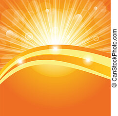 astratto, fondo, con, luce sole, raggi