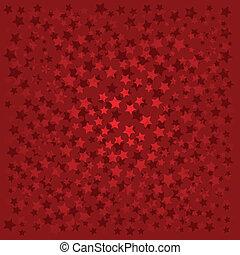 astratto, fondo, con, rosso, stelle, su, rosso