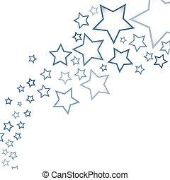 astratto, fondo, con, stelle