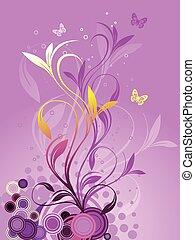 astratto, fondo, floreale
