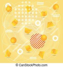 astratto, fondo, in, giallo, colorare, con, elemento
