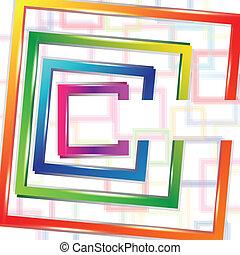 astratto, fondo, quadrato