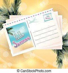 astratto, fondo, soleggiato, giorno estate