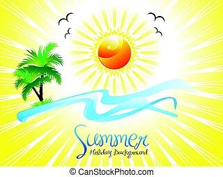 astratto, fondo, vacanza estate, artistico