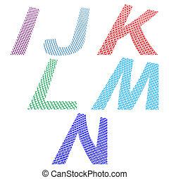 astratto, font, disegno