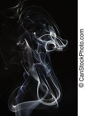 astratto, fumo nero, fondo
