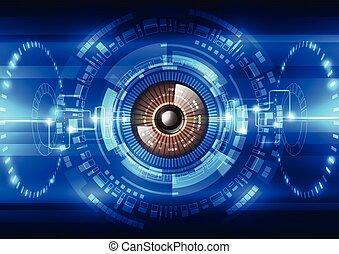 astratto, futuro, tecnologia, sistema sicurezza, fondo,...