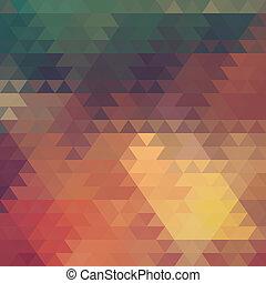 astratto, geometrico, fondo, di, il, triangoli