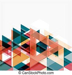astratto, geometrico, fondo., moderno, ricoprendo, triangoli