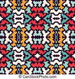 astratto, geometrico, seamless, fondo, pixel