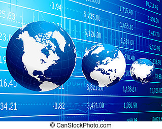 astratto, globale, fondo, affari, economia