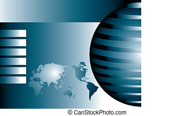astratto, globale, mappa mondo