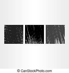 astratto, grunge, sfondo nero, vettore, set, collezione