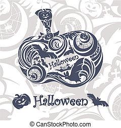 astratto, halloween, fondo