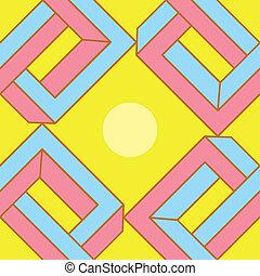 astratto, illusione ottica, seamless, modello