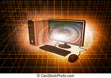astratto, illustrazione, desktop, realistico, tecnologia...