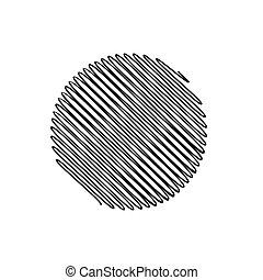 astratto, illustrazione, fondo, vettore, cerchio nero, scarabocchio