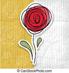 astratto, -, illustrazione, rose, vettore, fondo, floreale