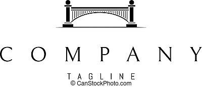 astratto, immagine, di, uno, ponte, con, archi, e, columns.