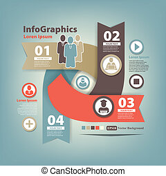 astratto, infographic, set