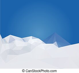 astratto, inverno, montagne