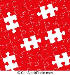 astratto, jigsaw confondono, fondo, pezzi