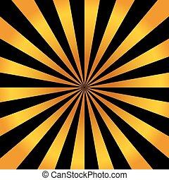 astratto, luminoso, fondo, con, arancia, raggi