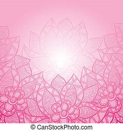astratto, mano, flowers., fondo, floreale, disegnato