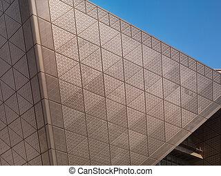 astratto, metallo, architettonico, struttura