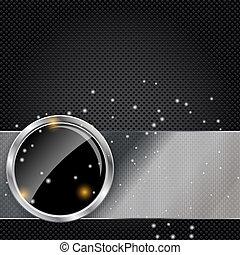 astratto, metallo, illustrazione, vetro, vettore, fondo