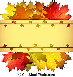 astratto, mette foglie, fondo, cadere