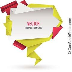 astratto, moderno, origami, discorso