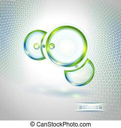 astratto, molecola, fondo