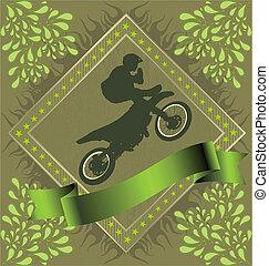 astratto, motocicletta, fondo